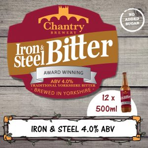 Iron and Steel Real Ale Beer Bottle