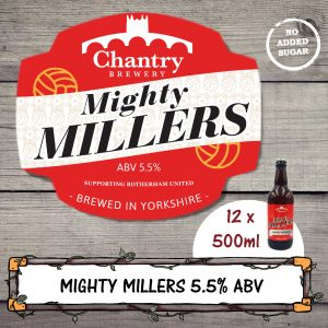 Mighty Millers Real Ale Beer Bottle