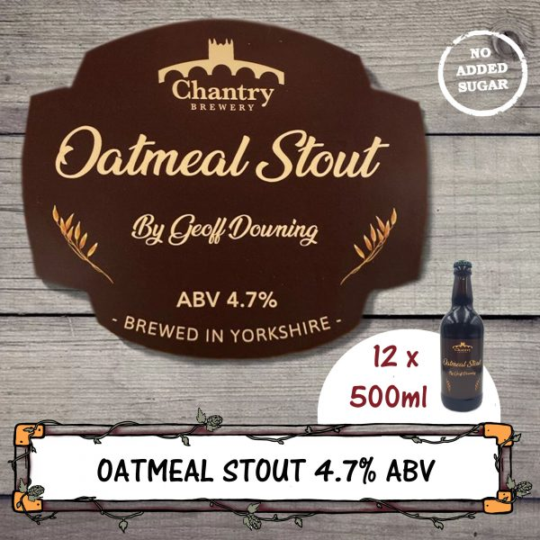 Oatmeal Stout Real Ale Beer Bottle