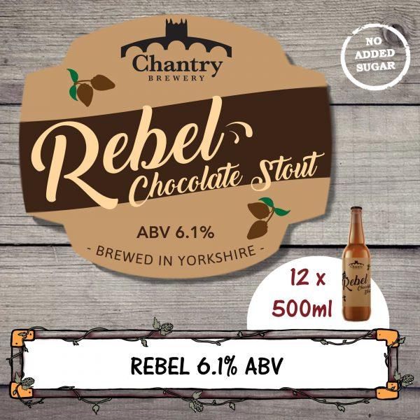 Rebel Real Ale Beer Bottle
