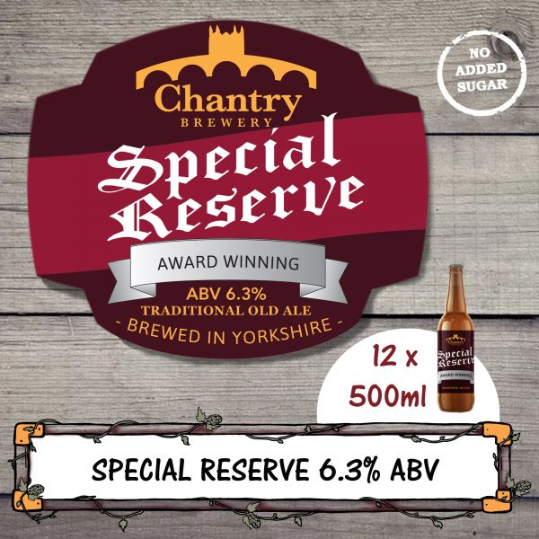 Special Reserve Real Ale Beer Bottle