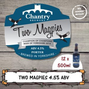 Two Magpies Real Ale Beer Bottle
