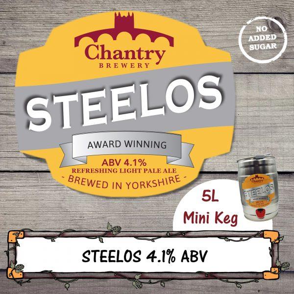 Steelos Real Ale Mini Keg Cask