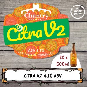 Citra V2 real ale beer bottle