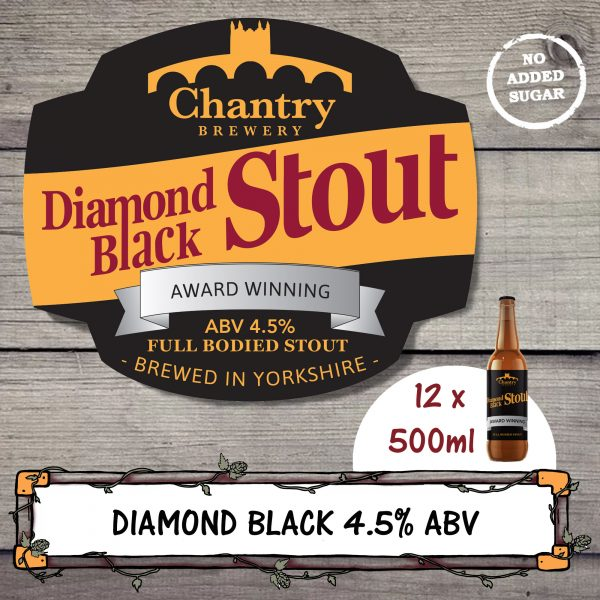 Diamond Black real ale beer bottle