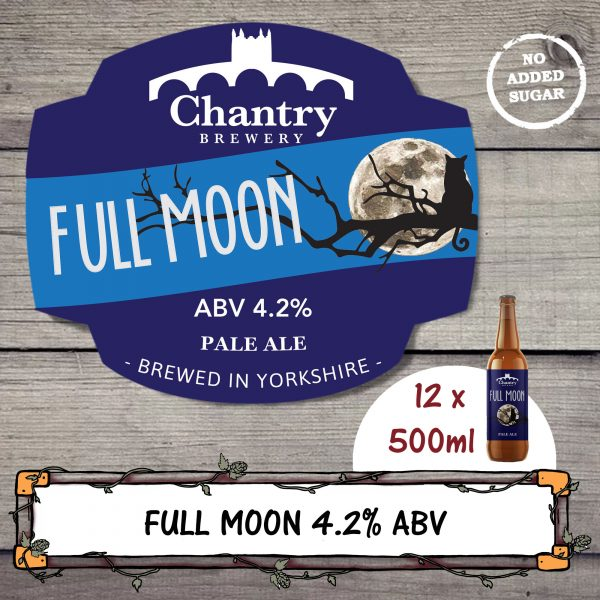 Full Moon real ale beer bottle