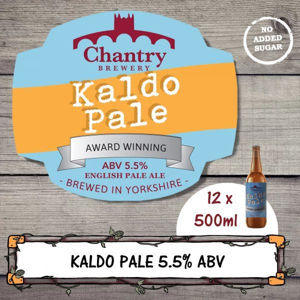 Kaldo Pale Real Ale Beer Bottle