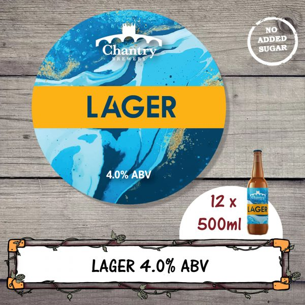 Lager real ale beer bottle