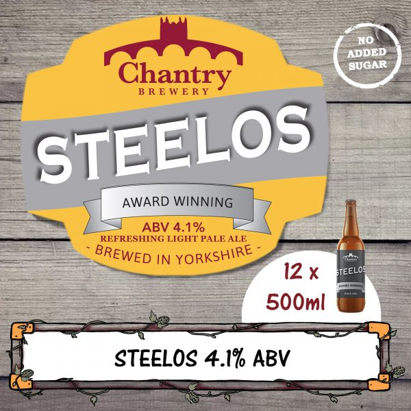 Steelos Chantry Brewery Real Ale Beer Bottle