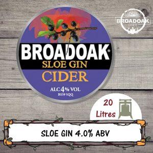 Sloe Gin Broadoak Cider