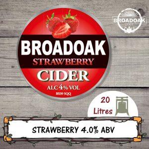 Strawberry Broadoak Cider