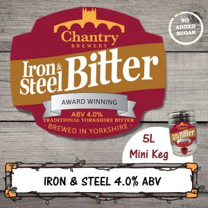 Iron and Steel Real Ale Mini Keg