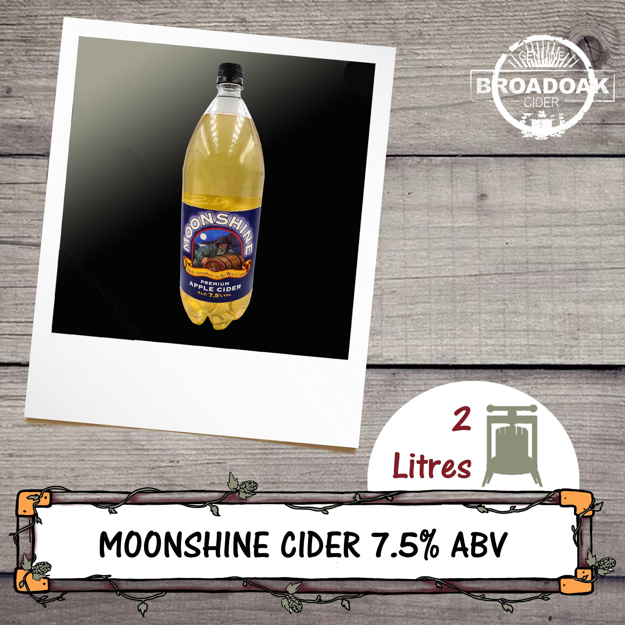 Bottle of Moonshine Cider