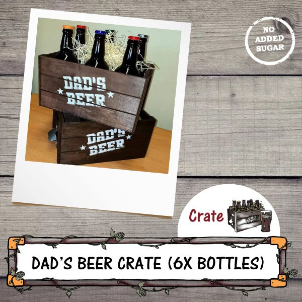 Dad's Wooden Beer Crate