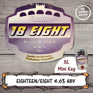 18 Eight Real Ale Mini Keg