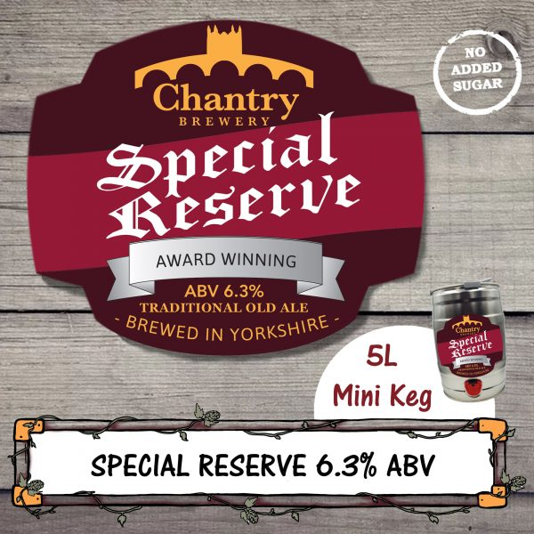 Special Reserve Real Ale Beer Mini Keg