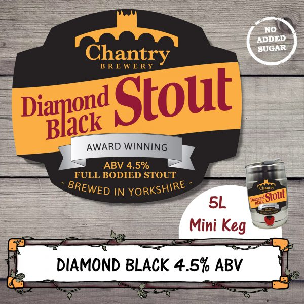 Diamond Black Mini Keg