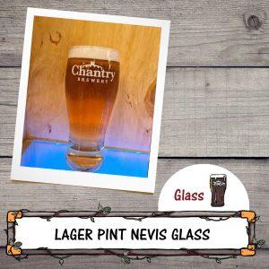 Lager Pint Nevis Glass