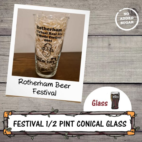 Rotherham Beer Festival Half Pint Conical Glass