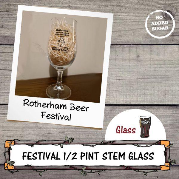 Rotherham Beer Festival Half Pint Stem Glass