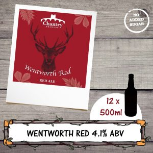 Wentworth Red ale beer bottle by Chantry Brewery