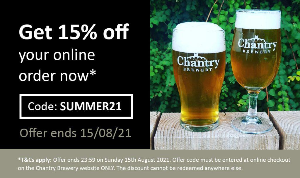 Chantry Brewery Discount Voucher Code Summer21